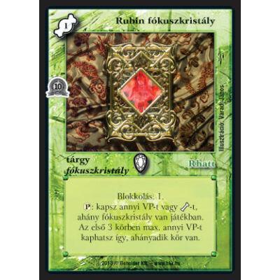 Rubin fókuszkristály (foil)