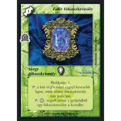 Zafír fókuszkristály (foil)