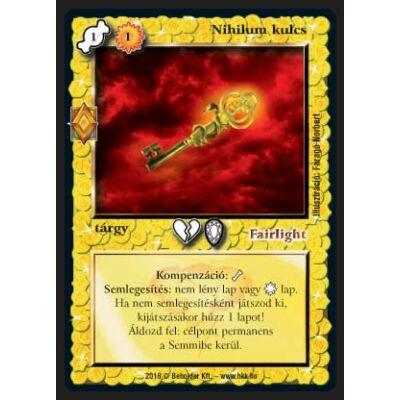 Nihilum kulcs (foil)