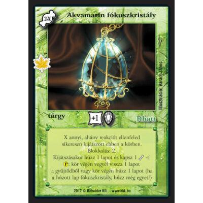 Akvamarin fókuszkristály