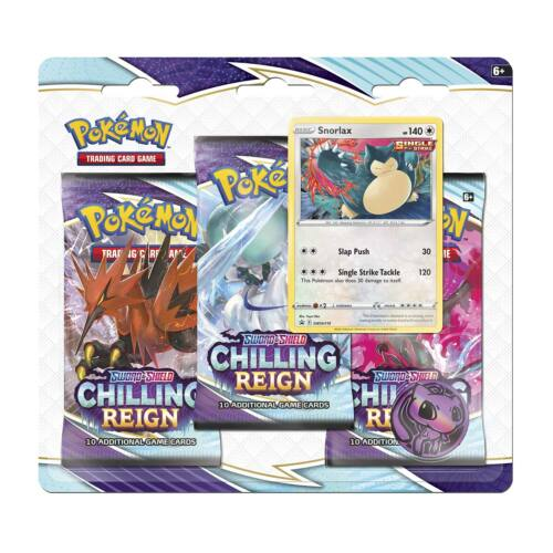 Chilling Reign 3 Pack Blister (Snorlax)