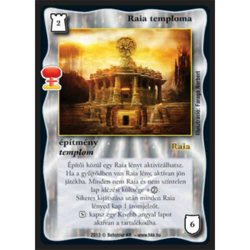 Raia temploma (új)